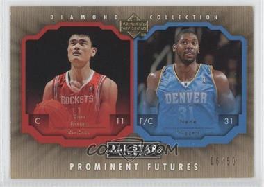 2004-05 Upper Deck All-Star Lineup Prominent Futures Gold #PF-MN - Nenê, Yao Ming /50
