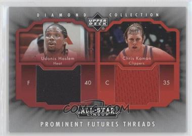 2004-05 Upper Deck All-Star Lineup Prominent Futures Threads #PFT-HK - Chris Kaman, Udonis Haslem