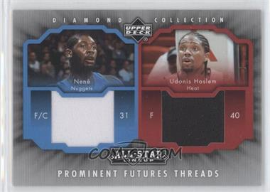 2004-05 Upper Deck All-Star Lineup Prominent Futures Threads #PFT-NH - Udonis Haslem, Nenê