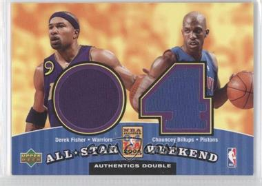2004-05 Upper Deck All-Star Weekend Authentics Double #ASW2-FB - Derek Fisher, Chauncey Billups