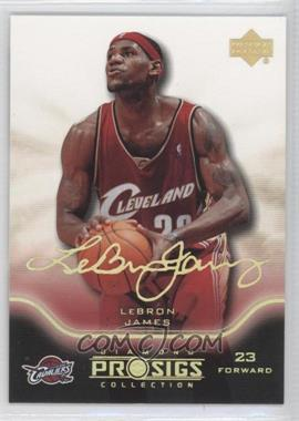 2004-05 Upper Deck Diamond Collection Pro Sigs Gold #13 - Lebron James