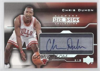 2004-05 Upper Deck Diamond Collection Pro Sigs Pro Signs Rookies [Autographed] #PS-CD - Chris Duhon