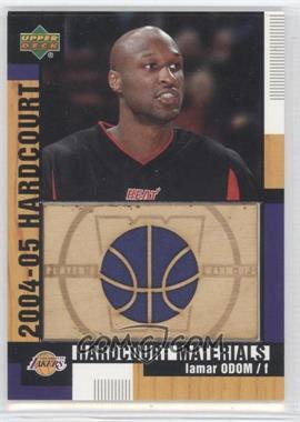 2004-05 Upper Deck Hardcourt - Hardcourt Materials - Combo Player's Materials #HCM-LO - Lamar Odom