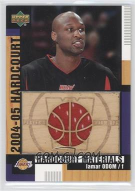 2004-05 Upper Deck Hardcourt Hardcourt Materials Combo Player's Materials #HCM-LO - Lamar Odom