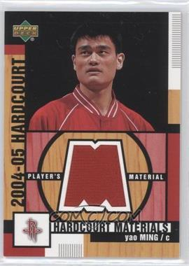 2004-05 Upper Deck Hardcourt Hardcourt Materials Player's Materials #HM-YM - Yao Ming