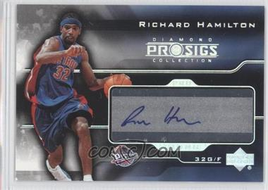 2004-05 Upper Deck Pro Sigs Diamond Collection - Pro Signs #PS-RH - Richard Hamilton