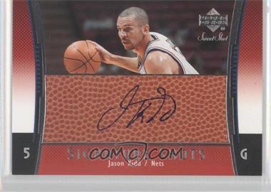 2004-05 Upper Deck Sweet Spot - Signature Shots - [Autographed] #SS-JK - Jason Kidd