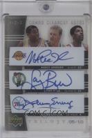 Magic Johnson, Larry Bird, Julius Erving /10