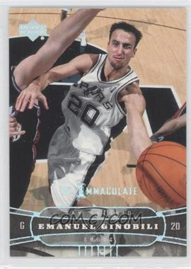 2004-05 Upper Deck UD Immaculate #170 - Emanuel Ginobili