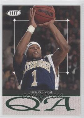 2004 SAGE Hit Q & A #Q9 - Julius Page