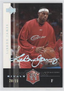 2004 Upper Deck Rivals - [Base] - Facsimile Autograph Platinum #2 - Lebron James /23