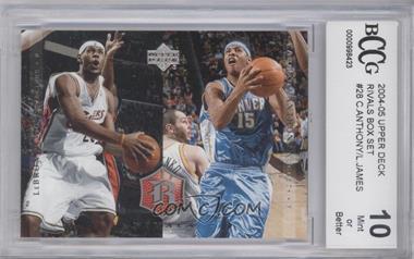 2004 Upper Deck Rivals - [Base] #28 - Lebron James, Carmelo Anthony [ENCASED]
