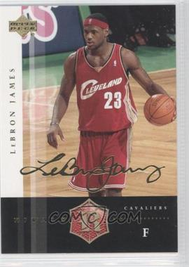 2004 Upper Deck Rivals Facsimile Autograph #7 - Lebron James