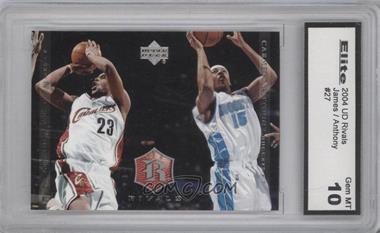 2004 Upper Deck Rivals #27 - Lebron James, Carmelo Anthony [ENCASED]