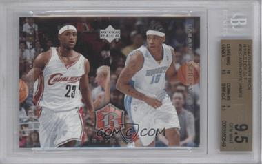 2004 Upper Deck Rivals #30 - Lebron James, Carmelo Anthony [BGS 9.5]