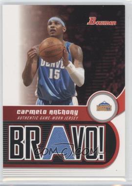 2005-06 Bowman Draft Picks & Prospects - Bravo! #BV-CA - Carmelo Anthony