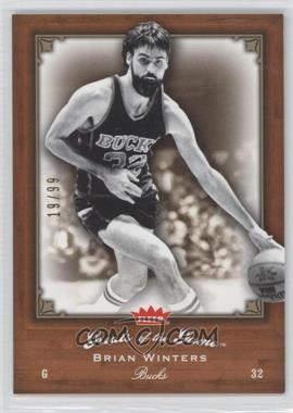 2005-06 Fleer Greats of the Game - [Base] - Gold #15 - Brian Winters /99
