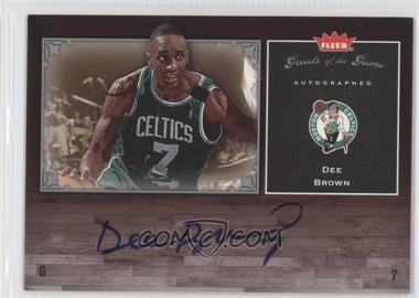 2005-06 Fleer Greats of the Game Autographed [Autographed] #GG-DB - Dee Brown
