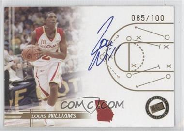 2005-06 Press Pass Autographs Gold [Autographed] #LOWI - Louis Williams /100