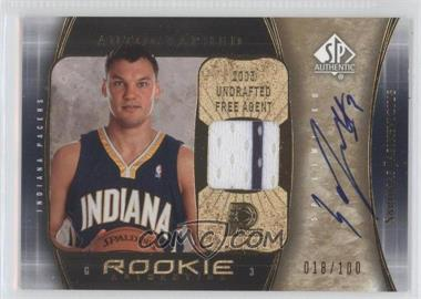 2005-06 SP Authentic - [Base] - SP Limited Rookie Jersey Autograph [Autographed] #111 - Sarunas Jasikevicius /100