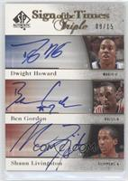 Dwight Howard, Ben Gordon, Shaun Livingston /15