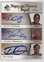 Marvin Williams, Charlie Villanueva, Ike Diogu /15