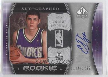 2005-06 SP Authentic #125 - Ersan Ilyasova /1299