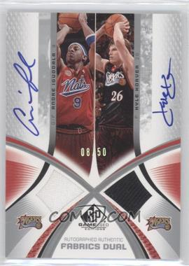 2005-06 SP Game Used Edition - Authentic Fabrics Jersey Dual - Autographs [Autographed] #AAF2-IK - Andre Iguodala, Kyle Korver /50