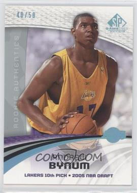 2005-06 SP Game Used Edition - [Base] - Blue Spectrum #101 - Andrew Bynum /50