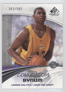 2005-06 SP Game Used Edition - [Base] #101 - Andrew Bynum /999