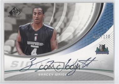 2005-06 SP Game Used Edition - SIGnificance #SIG-BW - Bracey Wright /100
