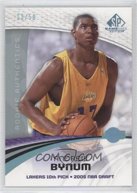 2005-06 SP Game Used Edition Blue Spectrum #101 - Andrew Bynum /50