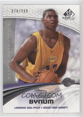 2005-06 SP Game Used Edition #101 - Andrew Bynum /999