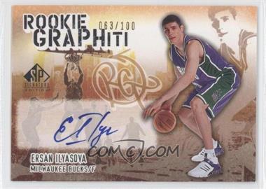 2005-06 SP Signature Edition Rookie GRAPHiti [Autographed] #RG-EI - Ersan Ilyasova /100