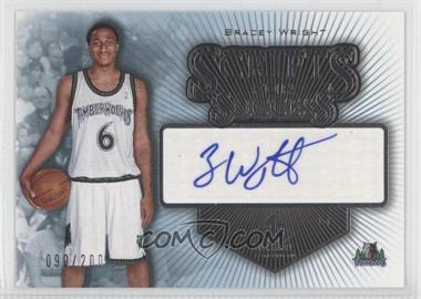 2005-06 SP Signature Edition Scripts for Success [Autographed] #SS-BW - Bracey Wright /200