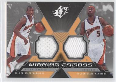 2005-06 SPx - Winning Combos Materials #WC-RD - Jason Richardson, Baron Davis