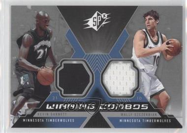 2005-06 SPx Winning Combos Materials #WC-GS - Kevin Garnett, Wally Szczerbiak