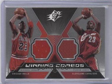 2005-06 SPx Winning Combos Materials #WC-JJ - Michael Jordan, Lebron James