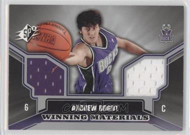 2005-06 SPx Winning Materials #WM-AB - Andrew Bogut