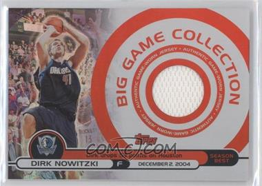2005-06 Topps Big Game Big Game Collection Relics #BG-DN - Dirk Nowitzki /99