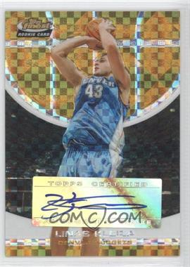 2005-06 Topps Finest - [Base] - Gold X-Fractor #132 - Linas Kleiza /39