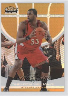 2005-06 Topps Finest Gold Refractor #144 - Shelden Williams /59
