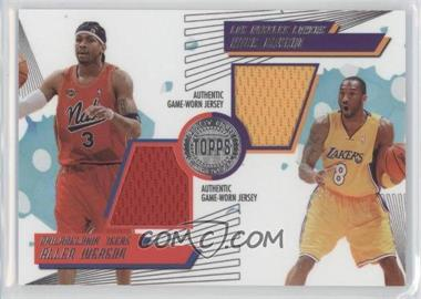 2005-06 Topps First Row - PTP Dual Relics #PTP-IB - Allen Iverson, Kobe Bryant /140