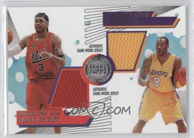 2005-06 Topps First Row PTP Dual Relics #PTP-IB - Allen Iverson, Kobe Bryant /140