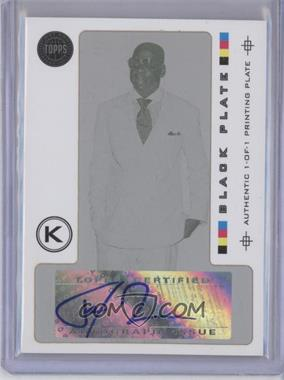 2005-06 Topps First Row Signature Swish Printing Plate Black Framed [Autographed] #SS-JZ - Jay-Z /1