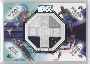 2005-06 Topps Luxury Box 4-on-2 Break Relics #BRR-9 - Kenyon Martin, Dwight Howard, Jermaine O'Neal, Emeka Okafor, Udonis Haslem, Ben Wallace, Tim Duncan, Amare Stoudemire /90