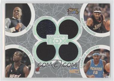 2005-06 Topps Luxury Box Box Out Relics #BOR-36 - Dwyane Wade, Allen Iverson, Carmelo Anthony, Jay-Z /193