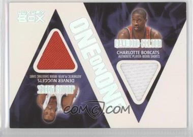 2005-06 Topps Luxury Box One on One Relics #OOR-HF - Julius Erving, Raymond Felton /225