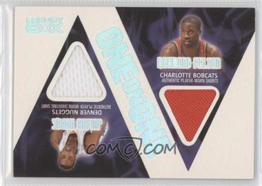 2005-06 Topps Luxury Box One on One Relics #OOR-HF - Raymond Felton, Julius Hodge /225