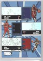 Dwyane Wade, Ben Gordon, Ray Allen /250